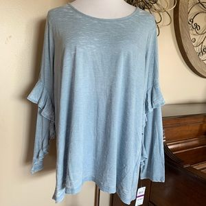 NWT Style & Co Size XXL Unique Sleeve Blouse Top